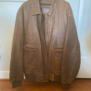Brown Wilsons Leather coat from around 2010